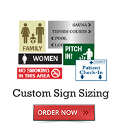 Custom Sign Sizing