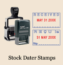 Stock Date Stamps