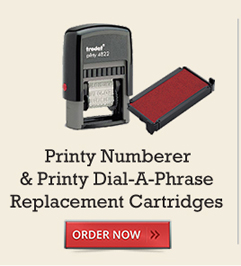 Printy Numberer & Dial-A-Phrase Replacement Cartridges