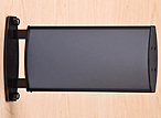 """W90L8375_DSP2G - 3-3/4"""" x 8"""" Curved Sign Holder for Wall or Ceiling"""