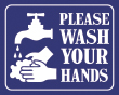 """8"""" x 10"""" Please Wash Your Hands sign"""