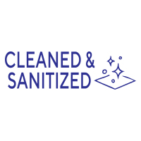 """168534 - Stock COVID Message: """"CLEANED SANITIZED"""""""