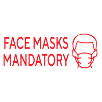 """168535 - Stock COVID Message: """"FACE MASKS"""""""