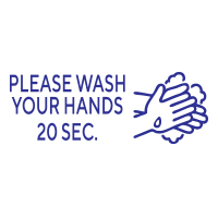 """168536 - Stock COVID Message: """"PLEASE WASH HANDS"""""""